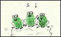 Cute fingerprint frogs