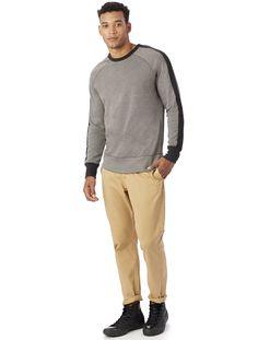 Alternative Apparel University Vintage French Terry Pullover Sweatshirt - Smoke & Porcelain Xl