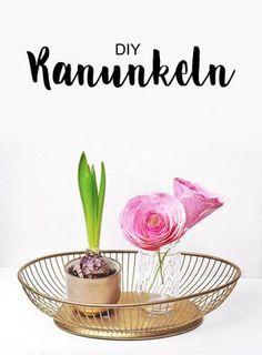 Frau Liebling - diy blog deko und Geschenke Ranunkeln aus Papier - Papierblumen