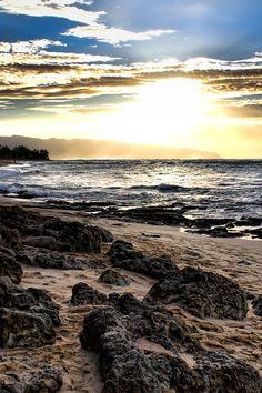Sea Shore Sunset iPhone Wallpaper