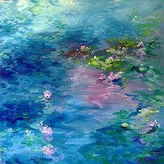 Waterlily Pond in BLUE ~ Marcia Baldwin