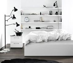 Discover modern beds from BoConcept. Design to suit every bedroom. Scandinavian Style, Nordic Style, Boconcept, Wooden Shelves, Floating Shelves, Contemporary Bedroom Furniture, Modern Spaces, Modern Homes, Furniture Inspiration
