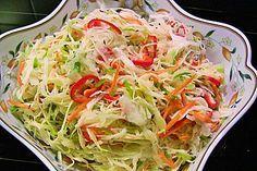 Weißkohl - Partysalat, ein leckeres Rezept aus der Kategorie Beilage. Bewertungen: 64. Durchschnitt: Ø 4,5.