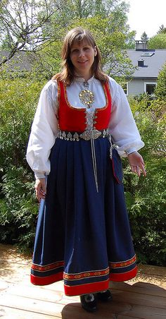 My daughter in one of Norways national costumes, via Flickr.