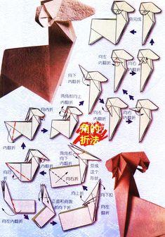 Diagramme d'origami du zodiaque : le bélier