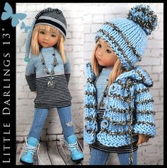 """*** OOAK FALL *** Outfit for Little Darlings Effner 13"""" by Maggie & Kate Create"""