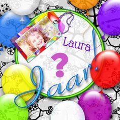 Super vrolijke verjaardagskaart die je kan gebruiken om te feliciteren of om mee uit te nodigen!Jarig ballonnen en naamkaartje a - Verjaardagskaarten - Kaartje2go
