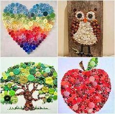appl button, button art, button crafts, button pictur