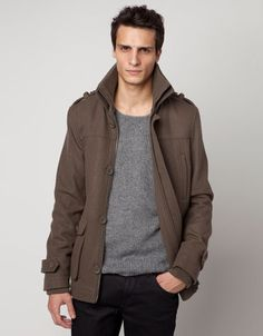 Bershka Hungary - Military-style wool jacket with pocket