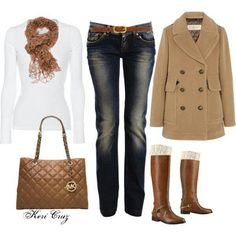 Tan jean outfit