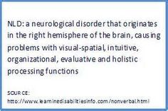 non verbal learning disorder - Bing Images