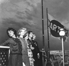 Jeanne Moreau, Monica Vitti, Maria Pia Luzi, Marcello Mastroianni & Michelangelo Antonioni, Terrazza Martini 1961