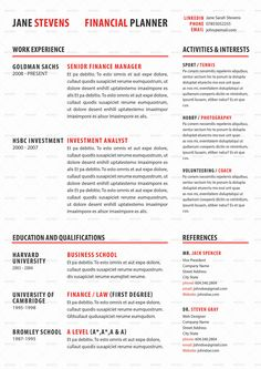 Star Resume Beautiful Dark Design Resumeperfect For Any Sales Or Marketing