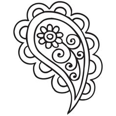 Henna Patterns, Hand Embroidery Patterns, Embroidery Designs, Paisley Art, Paisley Doodle, Mandala Art Lesson, Mandala Coloring Pages, Pencil Art Drawings, Printable Designs