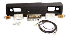 EZGO Marathon Golf Cart Complete Headlight Kit w/ Wiring & Cowl Cap