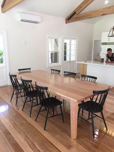 Tassie Oak dining table.