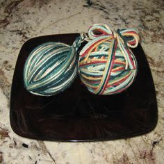I think we have already established that I love yarn. So what better way to decorate for Christmas than with yarn! These yarn ball ornaments are super simple to make, and I love the way they came out. And, of course, the first thing I wanted to do was share them with you.