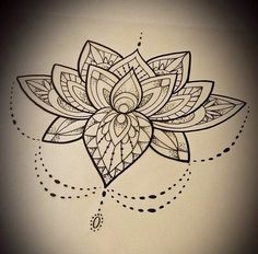 Lotus Mandala Tattoo Sketch
