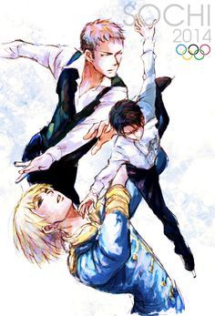 Attack on Titan/Shingeki no Kyojin Ice Skating AU<<<I don't know what this is but I LIKE IT