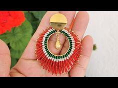 Tatting Jewelry, Beaded Jewelry, Handmade Jewelry, Bead Earrings, Crochet Earrings, Jewelry Making Tutorials, Brick Stitch, Beading Patterns, Gemstone Rings