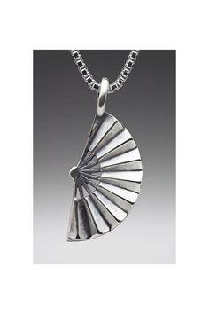 427c13f8c16 Fan Necklace - Japanese Fan Charm Fan Pendant - Japanese Jewelry - Fan  Jewelry - Beautiful Charm