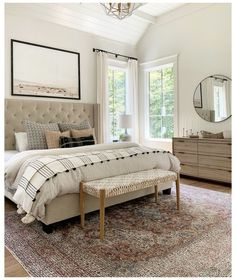 Looking for for pictures for farmhouse bedroom? Browse around this site for very best farmhouse bedroom images. This unique farmhouse bedroom ideas looks wonderful. Relaxing Master Bedroom, Master Bedroom Design, Home Decor Bedroom, Bedroom Designs, Bedroom Art, Colors For Master Bedroom, Bedroom Inspo, Master Bedroom Furniture Ideas, Couple Bedroom Decor