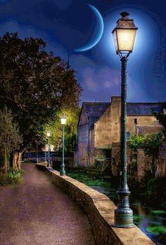 gif by frangipane Beautiful Nature Wallpaper, Beautiful Moon, Gif Bonito, Weekend Images, Foto Gif, Good Night Greetings, Good Night Gif, Aesthetic Photography Nature, Fete Halloween