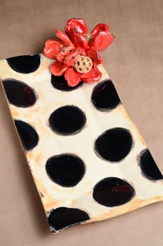 ceramics love the black polka dots TYAC's going to have to try this!!!
