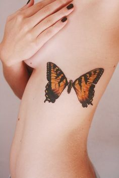 This butterfly but in a mirror on my thigh