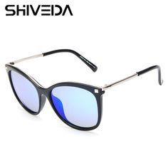 SHIVEDA Round Women Polarized Sunglasses Aluminum Multi COlor Sun Glasses Fashion Driving Dating Glasses Oculos De Sol A26043