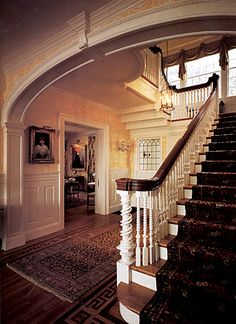 Colonial Revival entryway and staircase. Colonial Revival is one of my favorite architectural styles