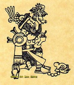 Aztec Shaman Mexico Mesoamerican History Mounted Rubber Stamp #ButterSideDownStamps