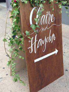 CUSTOM MADE Wooden Wedding Sign