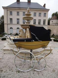 Vintage coach built pram gold landau anglais SILVER CROSS col or poussette