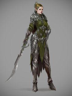 elven knights costume for archeage by Sungryun Park #cg #girl #Sungryun Park