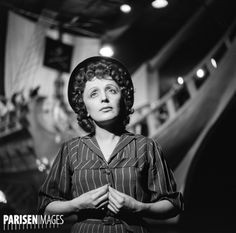 Edith Piaf (1915-1963), chanteuse française. France, vers 1955.