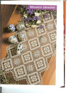 Pineapple flower series - summer - summer- beautiful cotton crochet on this site!