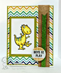 Your Next Stamp card by Brianna featuring Dino-mite! stamp set