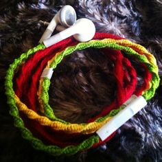 DIY anti-tangle headphone wrap :) love this idea so easy all you need is embroidery floss, lil tap and lil glue to seal the knots.