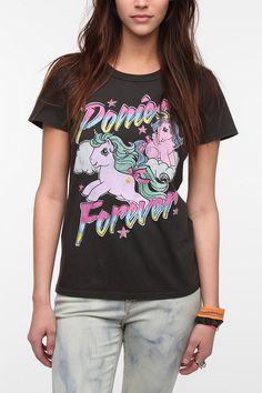 Potential Rugged Maniac Uniforms? @Kiesha Cochrane @Miranda Zimmerli @Megan Turnell Junk Food Ponies Forever Tee  #UrbanOutfitters