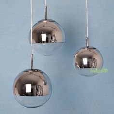 Tom Dixon Chrome Mirror Glass ball pendant lamp Ceiling Light Fixture 15/20/25cm #BIDESEN #Modern