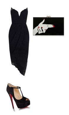 """""""Untitled #1764"""" by ioan-jeni on Polyvore featuring Zimmermann, Christian Louboutin and Charlotte Olympia"""