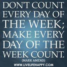 Don't Count Every Day of the Week