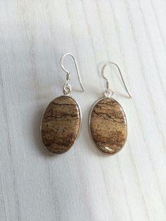 Colorz Of Earth: #Jasper Gemstone Earrings in 925 Sterling Silver #ColorzOfEarth #DropDangle