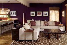 Wunderbar Plum Walls, Moderm Microfiber Couch · AuberginenWandfarbeWohnzimmerFarbenHausPflaumen  ...