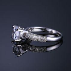 Anniversary Engagement Ring Genuine 925 Sterling Silver Jewelry Retro Dazzling Round Cut Gemstone Ring Valentine Gift! #Importexpress #chinawholesale  #wholesalejewelry #gemstones