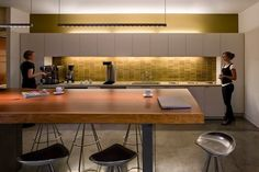 Similar to the kitchen/counter seating we have today - I like this!