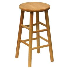 Perfect pulled up to your kitchen island or pub table, this cottage-chic wood barstool showcases a paneled seat and openwork base.