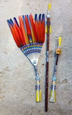 Feather Crafts, Feather Art, Peyote Beading, Beadwork, Native American Church, Nativity Crafts, Pow Wow, Rosettes, Cherokee