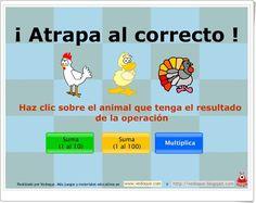 """¡Atrapa al correcto!"" (Juego de cálculo mental de Primaria) Medical Design, Teaching Spanish, Blog, Apps, Mental Calculation, Teaching Supplies, School, Home, Learning Multiplication Tables"
